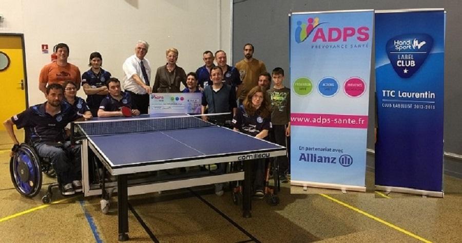 Tennis de table pour personnes en situation de handicap, un soutien au club TTC Laurentin