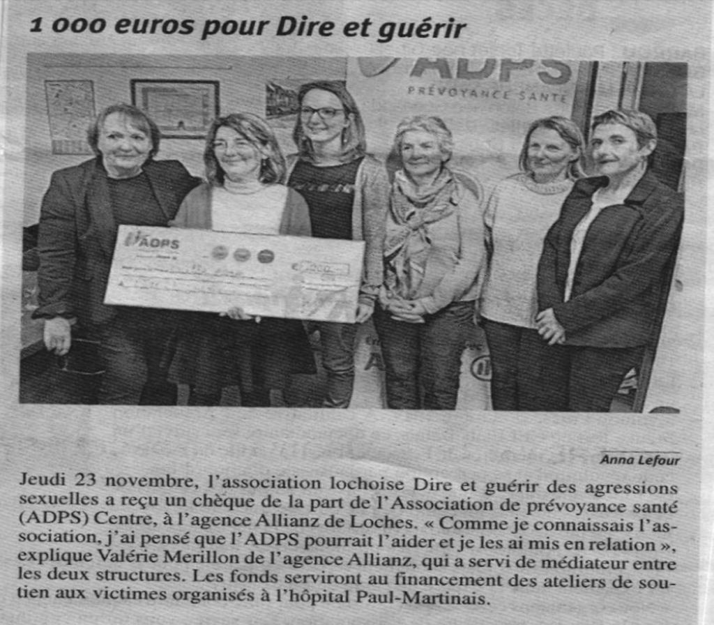 1 000 € pour Dire et Guérir