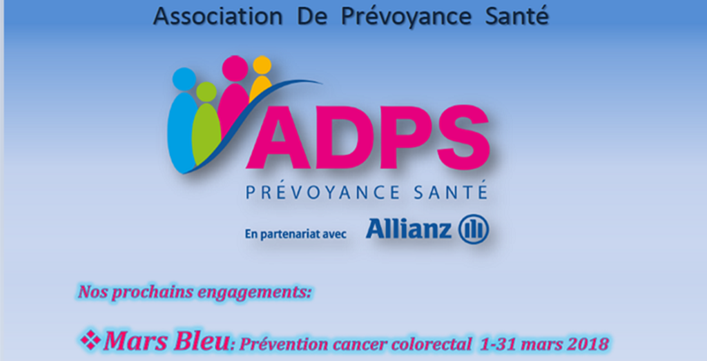 Mars Bleu 2018: L'ADPS sur tous les fronts contre le cancer colorectal