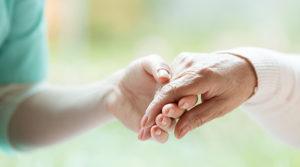 Hand of nurse