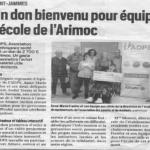 ADPS Aquitaine: Un don pour équiper l'école de l'ARIMOC