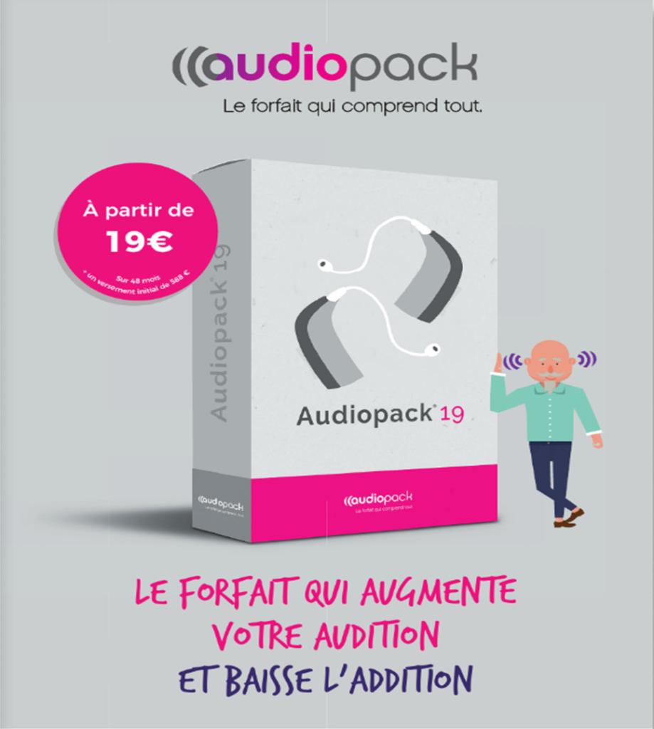 Audiopack: une offre d'appareillage auditif