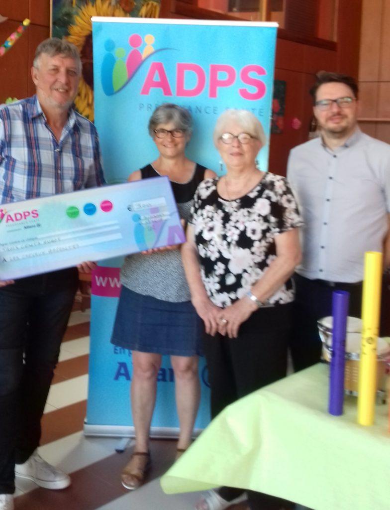 L'ADPS Bourgogne/Franche Comté soutient l'association»Les Cheveux Argentés»