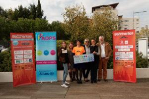 Remise de don 1ère édition de la course des Bacchantes Montpellier
