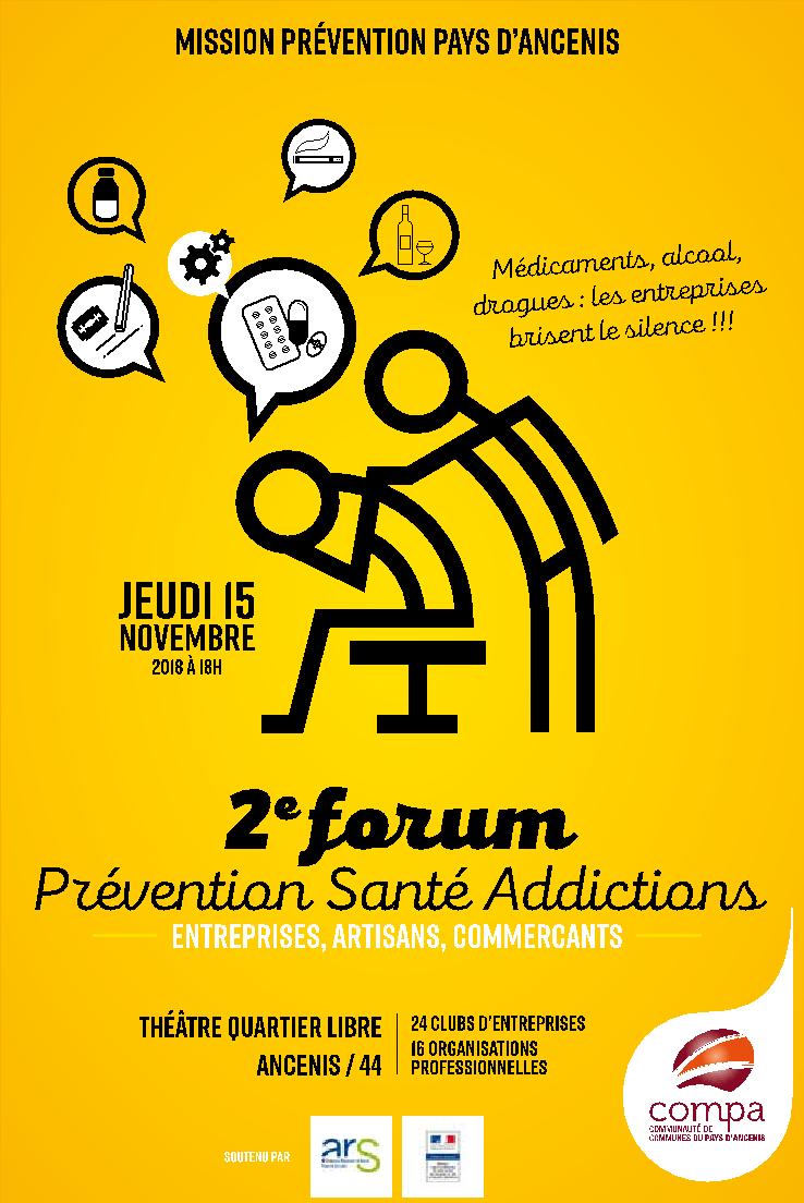 L'ADPS des Pays de Loire, partenaire du Forum d'Ancenis : PREVENTION-SANTE-ADDICTION