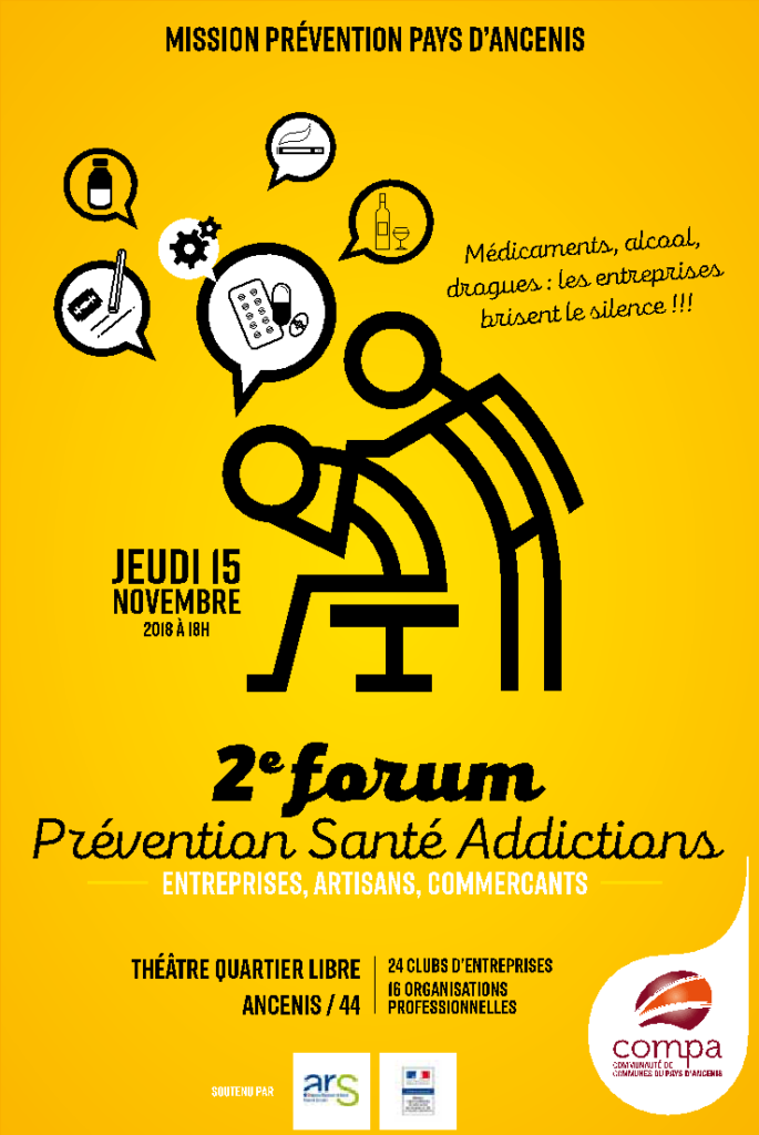 L'ADPS des Pays de Loire, partenaire du Forum d'Ancenis : PREVENTION-SANTE-ADDICTION