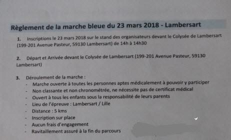 Marche Bleue du Dépistage - Lambersart-