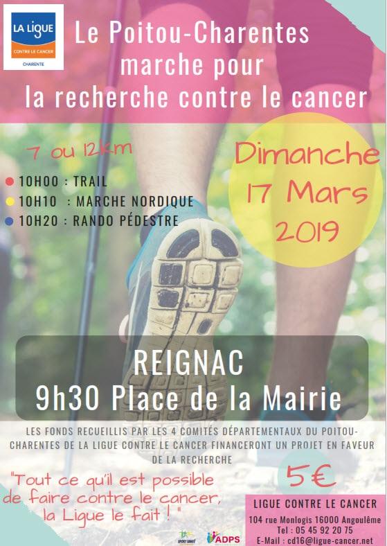 Marche pour la recherche contre le Cancer - Reignac -