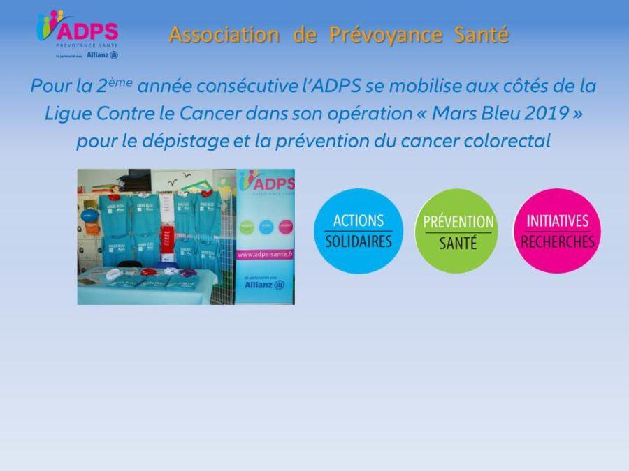– Mars Bleu 2019 – L'ADPS sur tous les fronts contre le cancer colorectal – Episode n°1 –