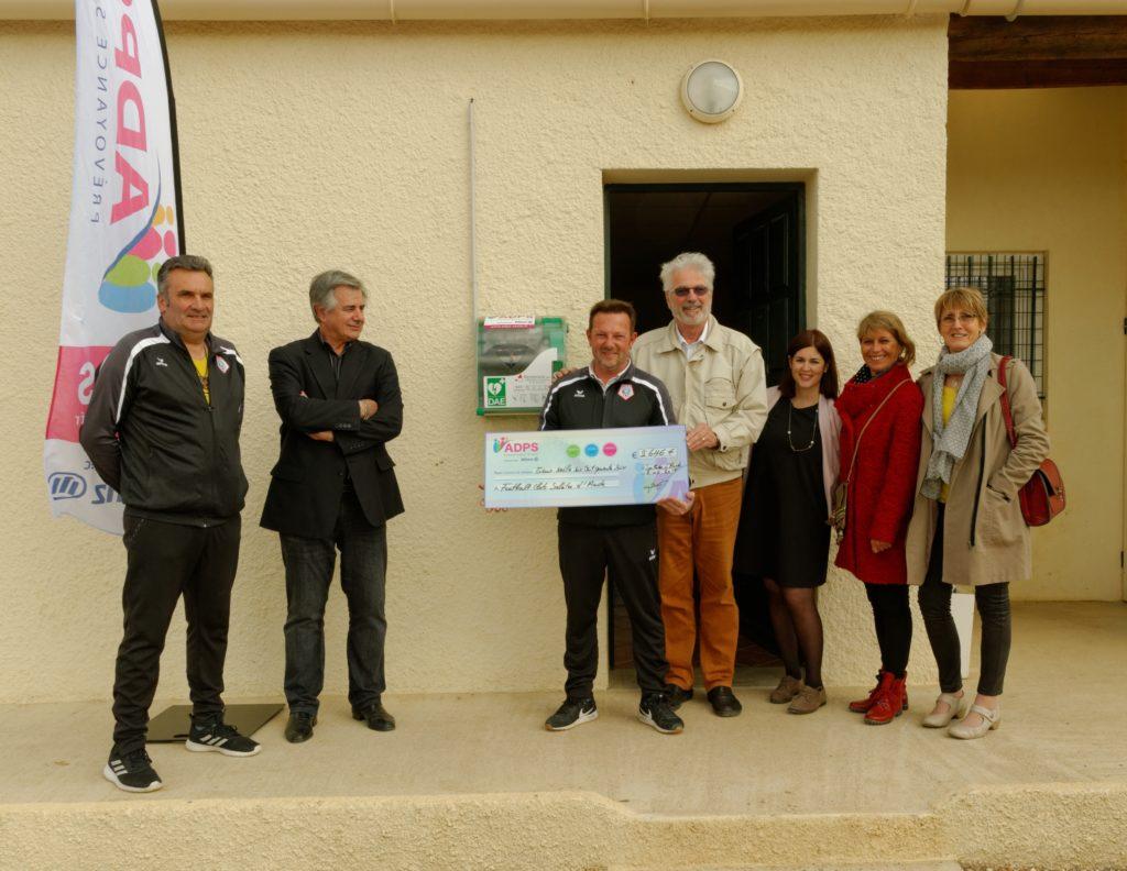Un don pour l'association Football Club de Sallèles d'Aude