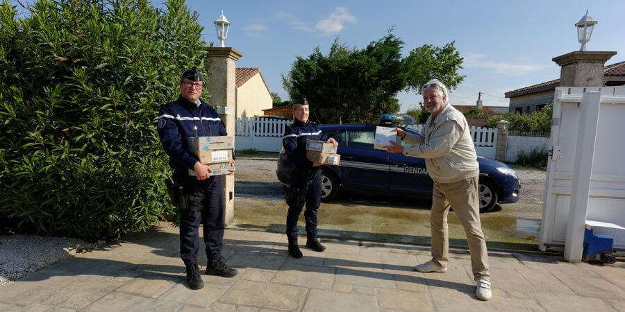 Séquence émotion avec les gendarmes de Ginestas