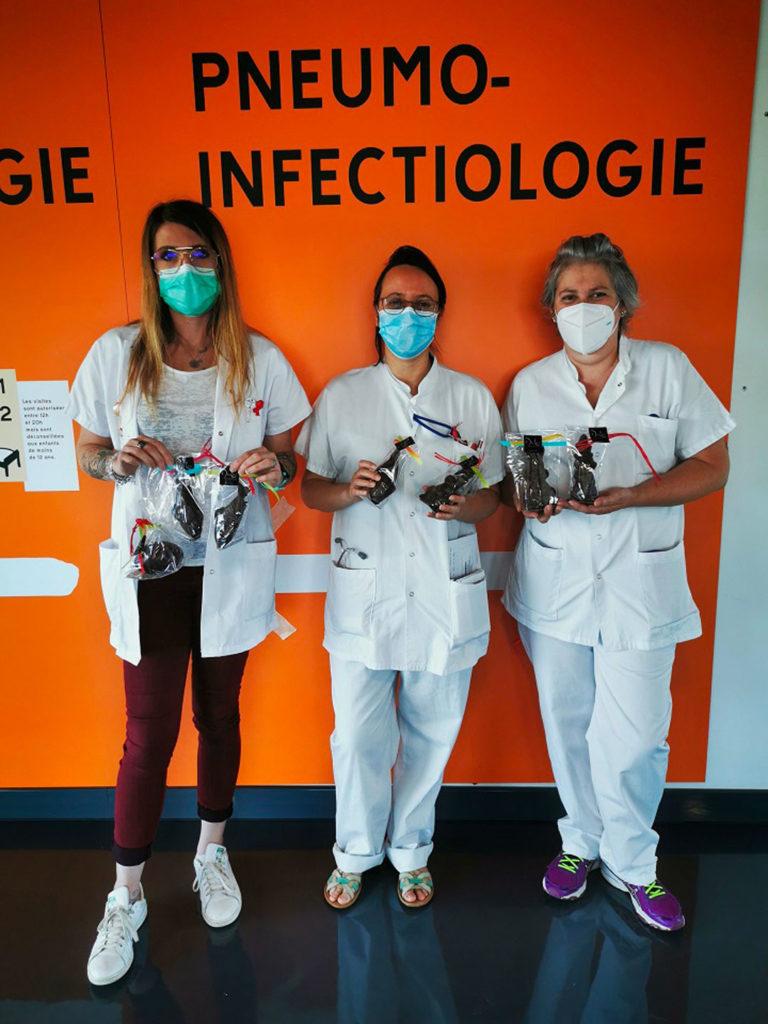 L'ADPS remercie l'hôpital de Valence avec des chocolats