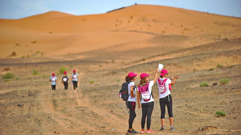 Un trek dans le désert contre le cancer du sein