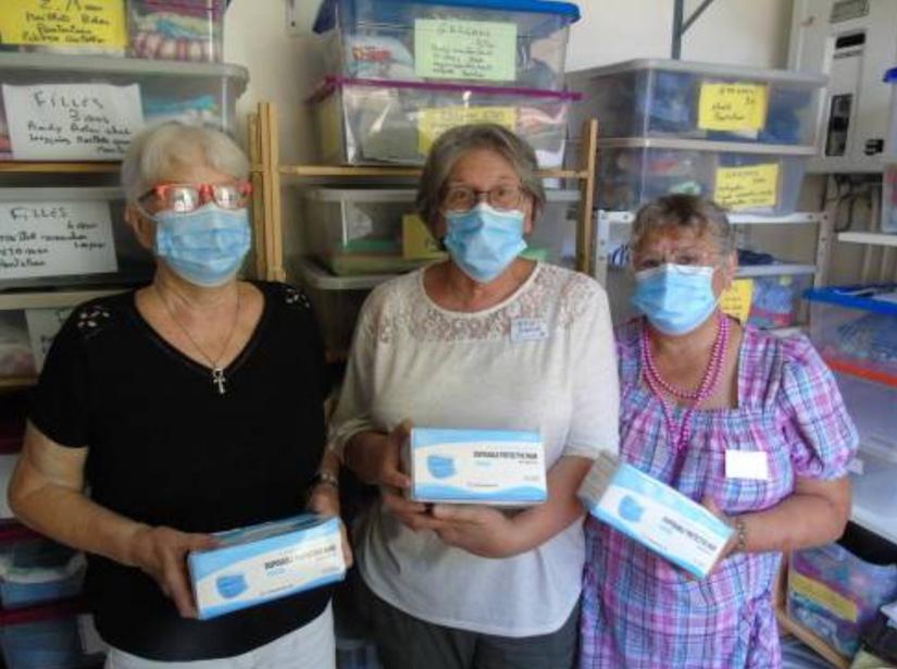 L'ADPS donne des masques à Tam-Tam
