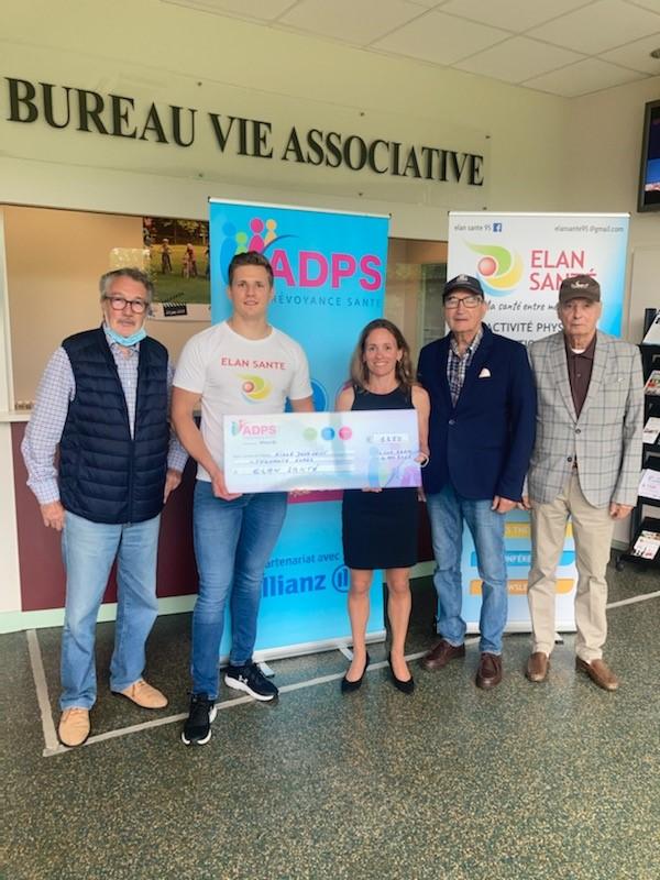 Un don à l'association Elan Santé de l'Isle Adam dans le Val d'Oise